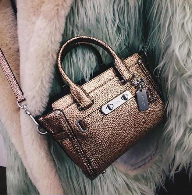 cf5d8ea8c0 the fluff oversized coat and the metallic coach swagger 20 carryall by  thefashionide coachspring2015