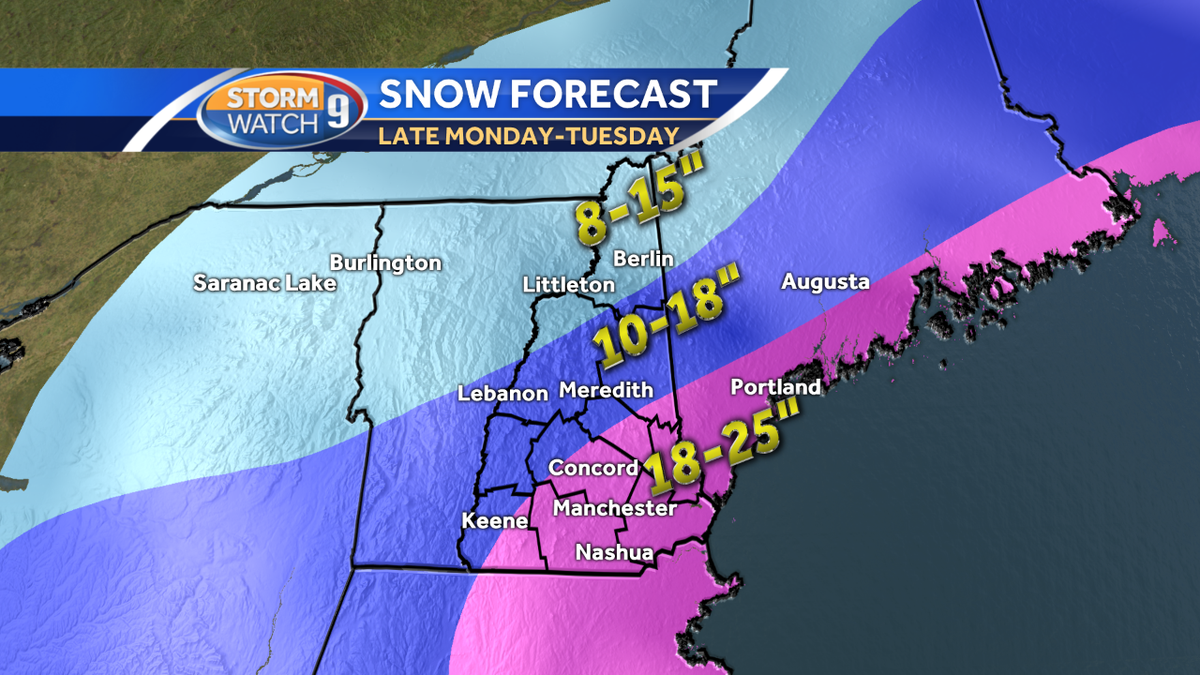 Wmur News 9 Weather On Twitter Here It Is Our Wmur9 Snowfall