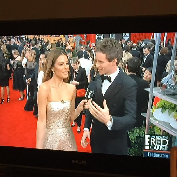RT @EdwardBarsamian: Nominee Eddie Redmayne cuts a lean figure in the double breasted tuxedo #sagawards http://t.co/dNzH3m1k1F