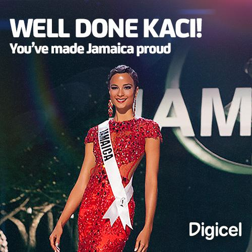 Well done @KaciFen you did all of Jamaica proud at the Miss Universe pageant. #MissionKaci #TeamJamaica http://t.co/ZqepfZOZSe