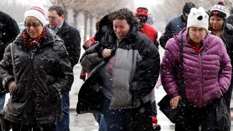 La piu' grande tempesta di neve della storia di New York