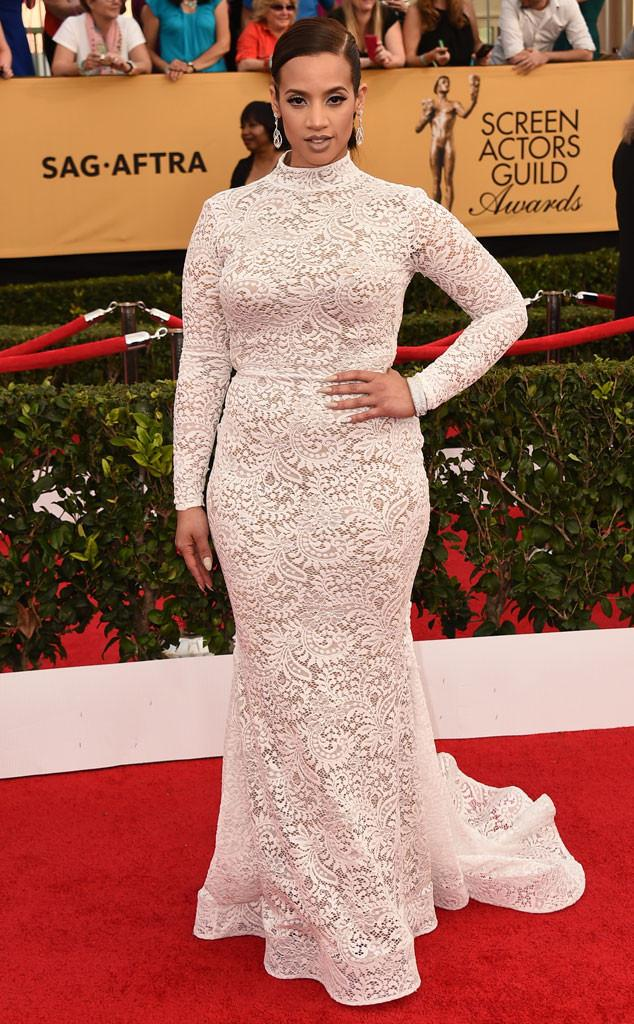 Dascha Polanco arrives on the red carpet at the 2015 #SAGAwards http://t.co/HYkQzFG0GG