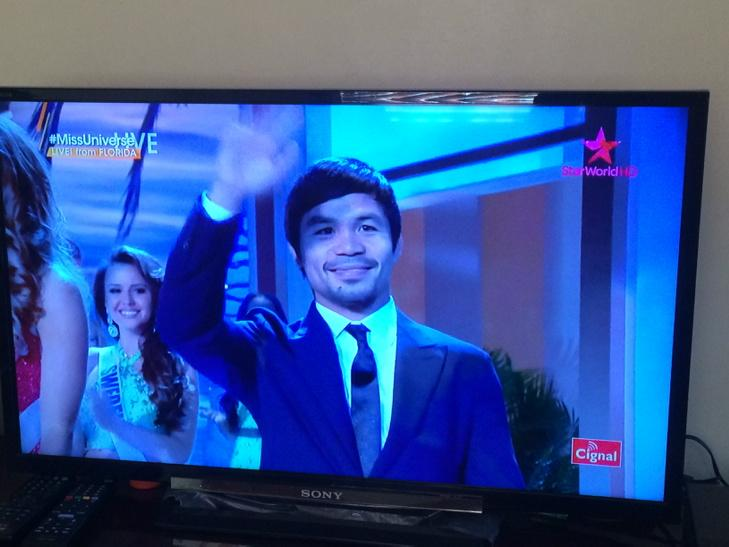 Go Pacman! Bring home the crown! Lol #MissUniverse2014 http://t.co/hILRMcWB2s