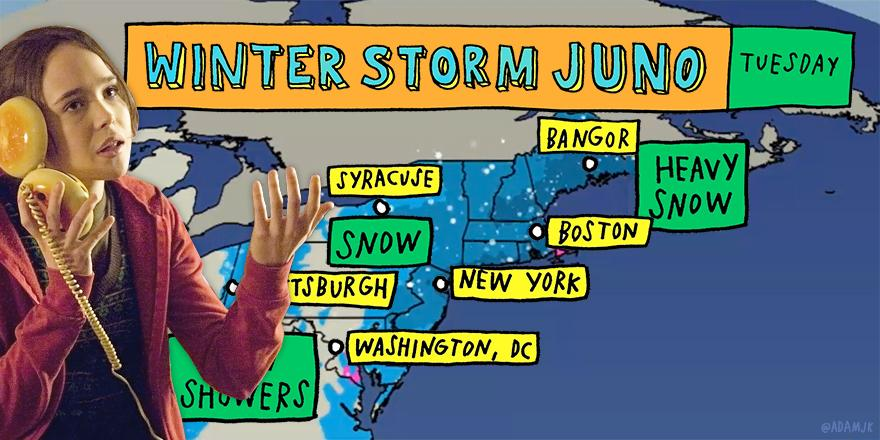 I mean, I'm already pregnant, so what other kind of shenanigans could I get into? #WinterStormJuno #blizzardof2015 http://t.co/4dY34fRTQ0