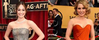 #EmmyRossum & #SophiaBush scintillate in classic gowns on the #SAGAwards red carpet! http://t.co/zvhPjyM9hK http://t.co/BBFqhEVJks