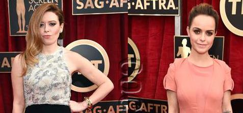 #NatashaLyonne & #TarynManning leave the dazzling to their #OINTB co-stars at the #SAGAwards! http://t.co/Xrd0D0EEr0 http://t.co/Hau7QM2VDb