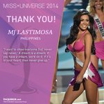 Image for the Tweet beginning: Miss Universe 2014 Philippines @MJ_Lastimosa