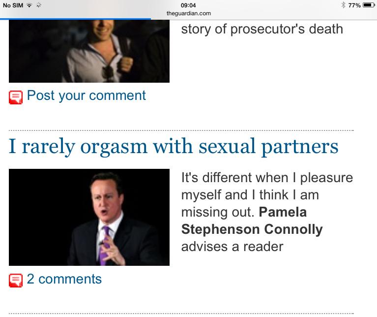RT @PMCallaghan: Some mistake surely by the @guardian website's picture editor http://t.co/HLufxoiuoW