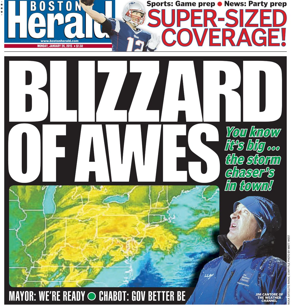Welcome back to the hub @JimCantore RT @bostonherald: Boston Herald front page -- January 26, 2015 http://t.co/8DbbNMnGov""