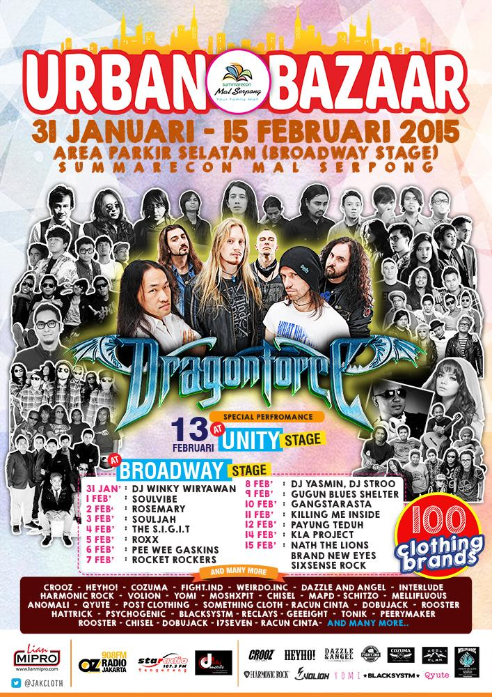 Urban Bazaar 31 Januari - 15 Feb 2015 @SMS_Serpong @JakCloth with 100 Clothing Brands, and 30 Performances.... http://t.co/q4iFo6Bwq0