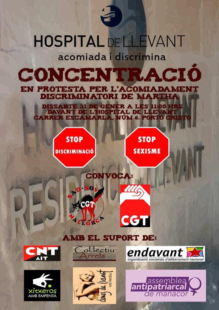 Concentració davant de l'Hospital de Llevant (31-01-15)