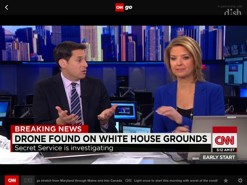 CNN reporting it was a drone that landed on the White House lawn: https://t.co/A7zP6ympCm
