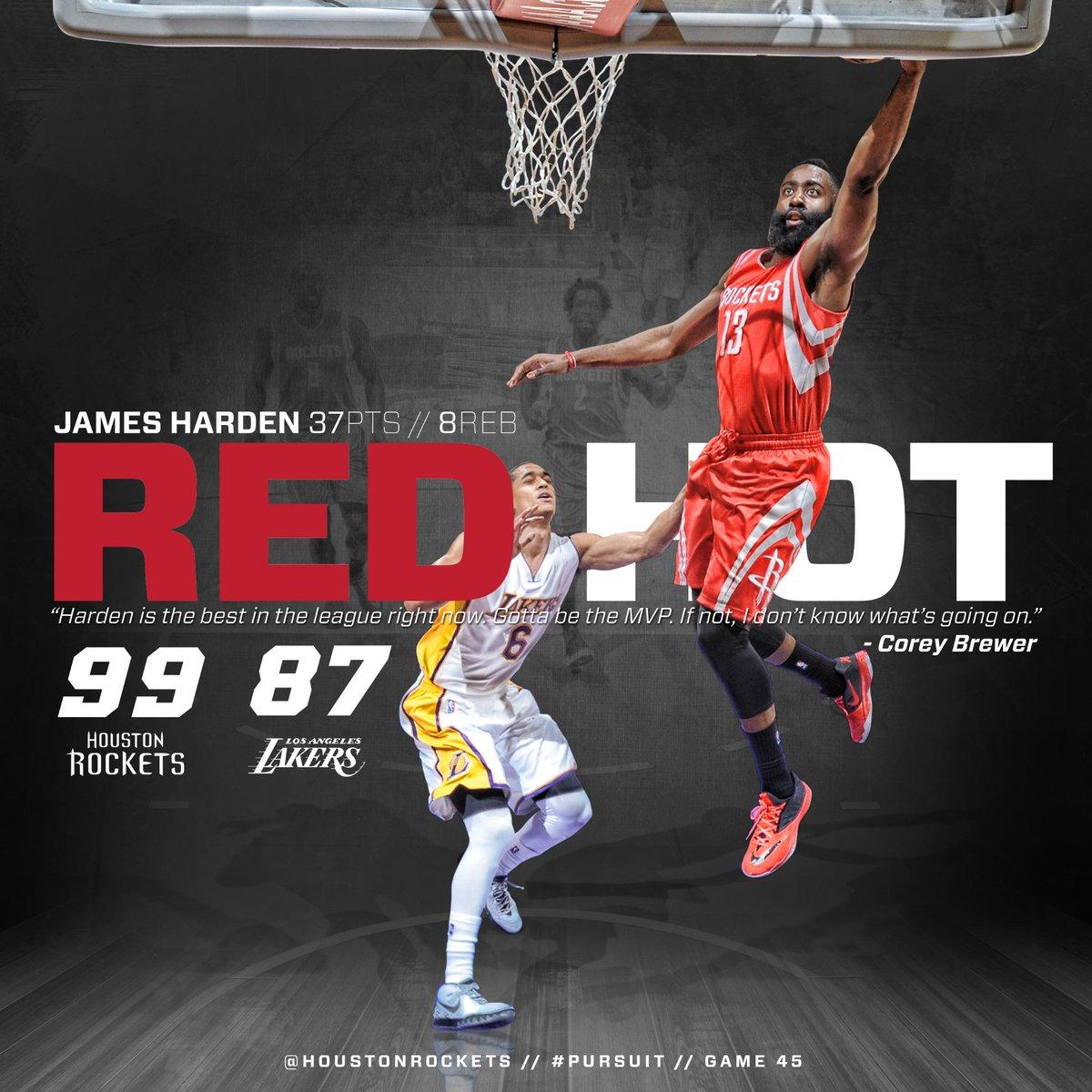 """Houston Rockets Win Last Night: Houston Rockets On Twitter: """"ICYMI, @JHarden13 Continued"""
