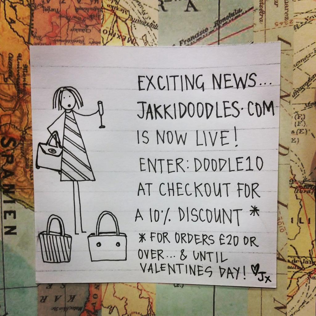 RT @Jakkidoodles: Exciting news people.... http://t.co/cRIHF1HJ0X is now live! Come and take a look. ✏🙈 #jakkidoodles #stationery http://t.…