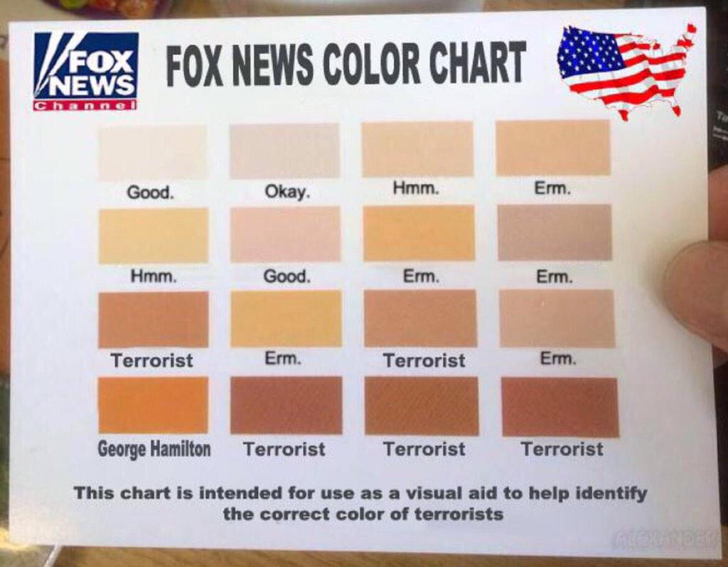 Ms lost on twitter bipartisanism foxnews has released ms lost on twitter bipartisanism foxnews has released their skin color chart to help its lower iq viewers be properly racist nvjuhfo Images