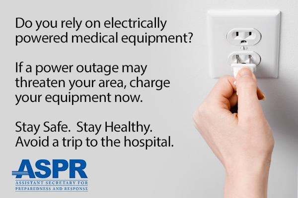 If you rely on durable electrically powered medical equipment & #blizzardof2015 is coming your way, charge it now. http://t.co/uwRrHVXnHn