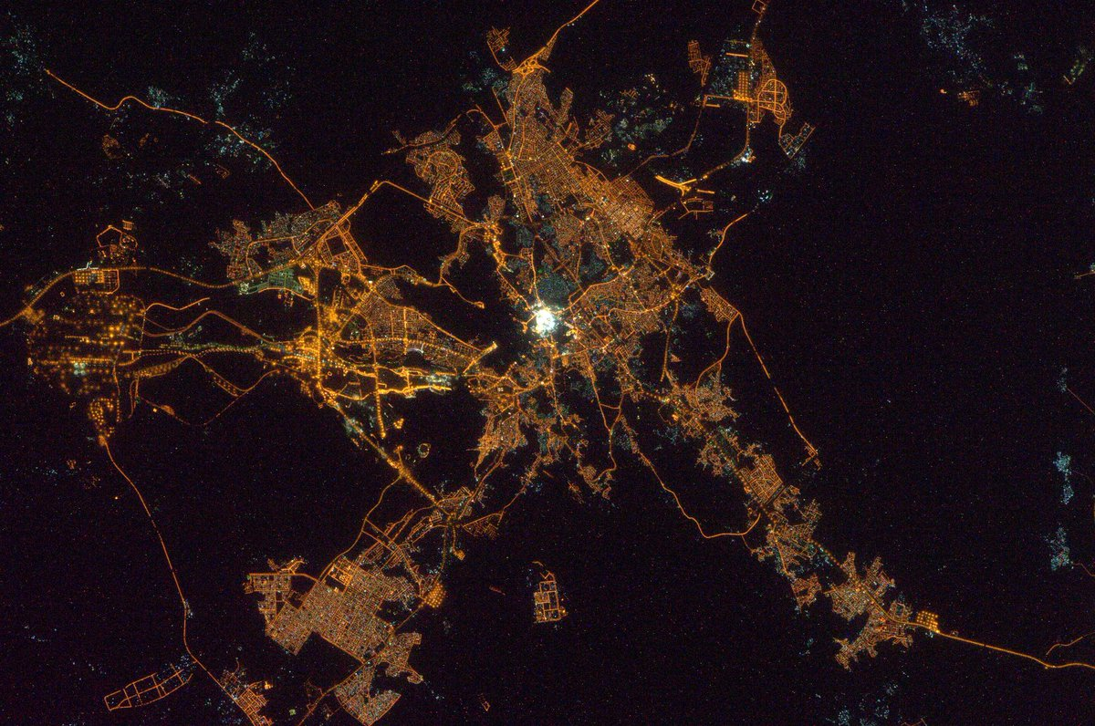 Anton Shkaplerov On Twitter Amazing Night View Of Mecca And Medina From The Iss Http T Co Gw4rxu73fq