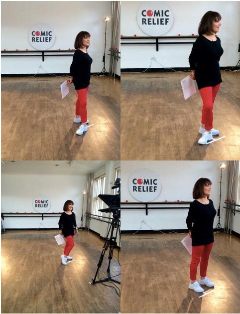 .@emmafreud as always talking dance, this time it was my feet doing the talking @comicrelief @rednoseday #danceathon http://t.co/suQ6MUO3Cw