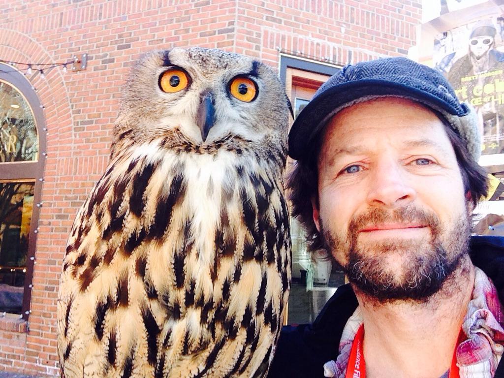 Screw the celebrities. I met an owl at #Sundance2015 http://t.co/ovgZjKKoXm