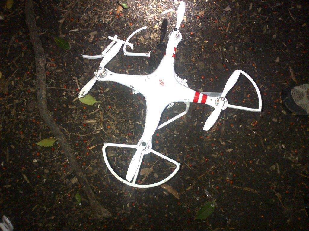 JUST IN - photo of the drone that crashed on the White House grounds overnight http://t.co/8wnOiKQlRi