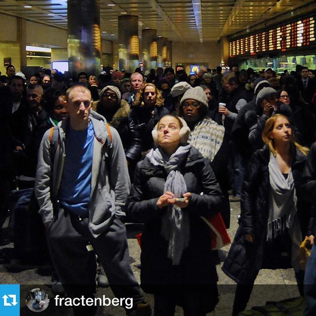 #Repost from @fractenberg:⁰Things are already looking crazy at #PennStation ahead of the... http://t.co/19oEamcqp1 http://t.co/oxjw9veRLa