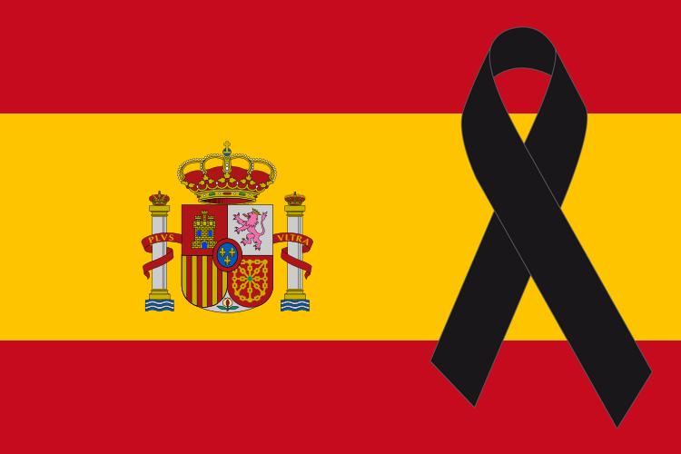 """Defensa y Aviación 🇪🇸 on Twitter: """"Pongo la bandera de España con lazo  negro en mi blog en memoria de los fallecidos en el accidente de Los  Llanos. DEP. http://t.co/V521799FSa"""""""