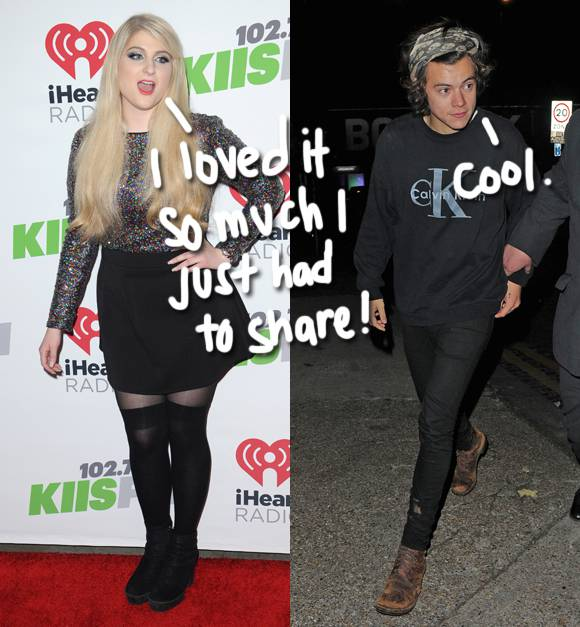 #MeghanTrainor may have just played a snippet of the song she wrote with #HarryStyles! Listen: http://t.co/ifIHGFVCKY http://t.co/aTwFfDSXTM