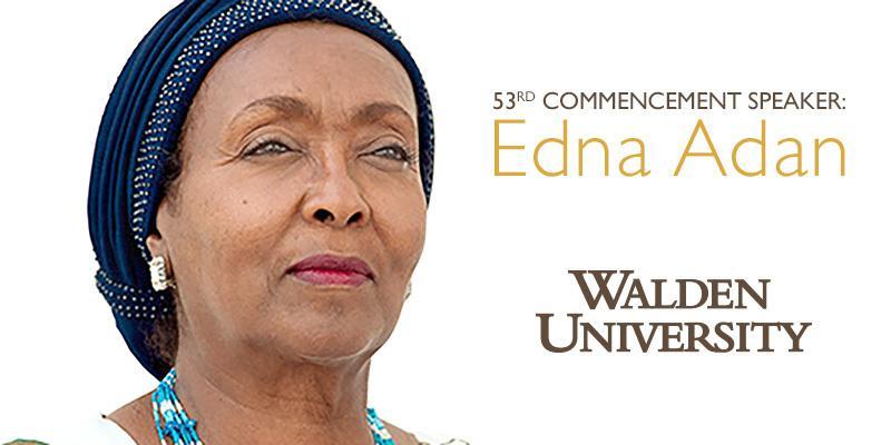 RT @WaldenU: Activist & founder of @ednafoundation, Edna Adan to speak at 53rd commencement! Edna's story: http://t.co/dOTtlMX58N http://t.…