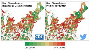 County-level rates of heart disease and angry tweets