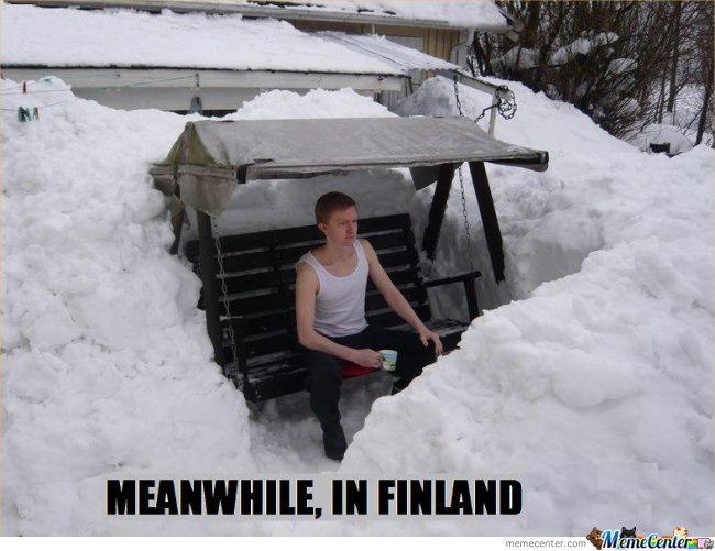 #Snowmageddon2015 Meanwhile, in Finland: http://t.co/HZukzYLia2