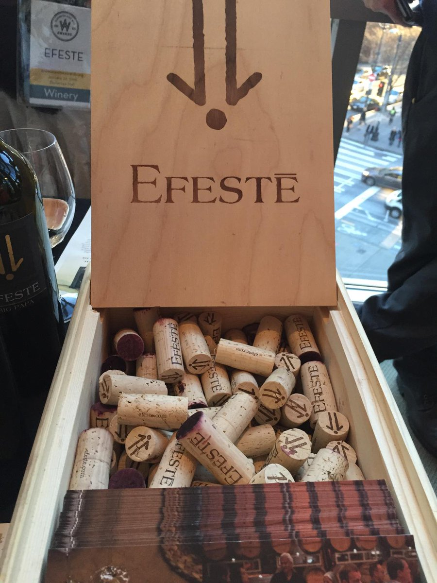 Just learned a new #wawine fact: @Efeste is pronounced FST for Farrelli, Smith and Taylor. #WAWineAwards http://t.co/ILGW71a04p