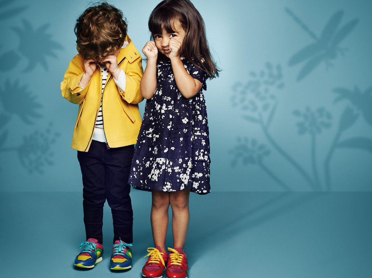 f15c2d6fd New Burberry childrenswear for S/S15, featuring indigo denim and rainwear  in vibrant hues