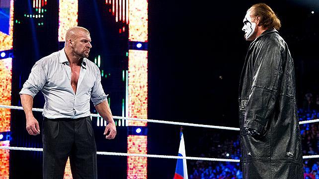 TRIPLE H RETA A STING A UN CARA A CARA EN WWE FAST LANE B8UpxeUCMAA_pul