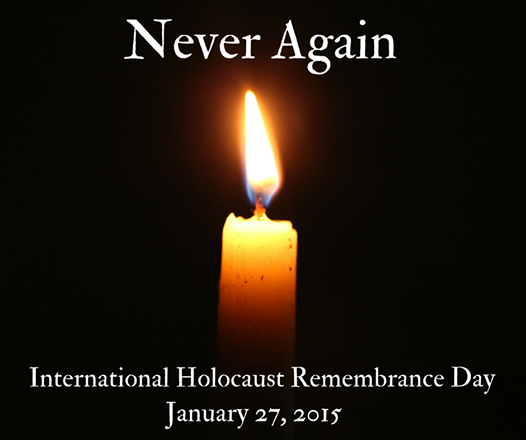Today we mark the Intl Holocaust Remembrance Day & #WeRemember the 6 million Jews who were murdered in this genocide. http://t.co/eFYHcuxw0Y