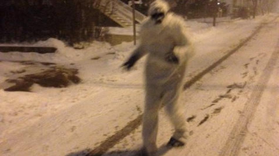 Yeti stalks the streets of Boston during #Blizzardof2015 http://t.co/NDC8GJQrLg @BostonYeti2015 http://t.co/8ZcjnPDhDH