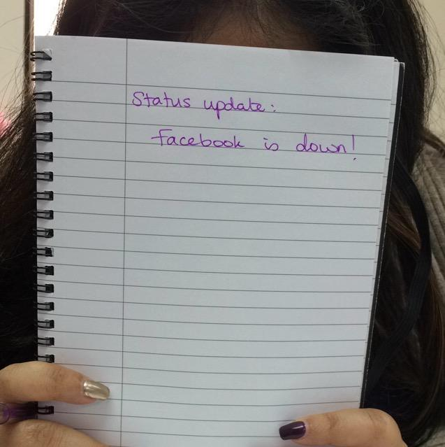 This is how we will be sharing our updates. #facebookdown http://t.co/5HFKHSfcyX