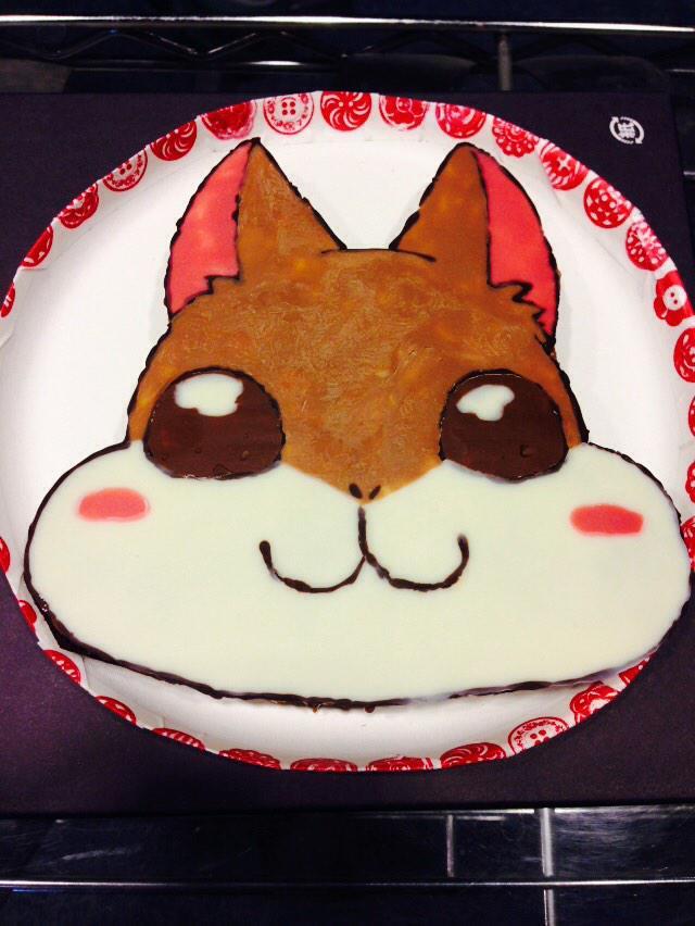 見よ!ぷっきゅーだ!あの森の食いしん坊が、ついに自らをケーキに変えてしまった!これスタッフさんの手作りです! pic.twitter.com/gH6ElST4ih