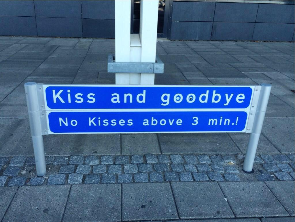 [pic] Strict guidelines at Aalborg Airport (Denmark) ;) http://t.co/LjikN2U1xt
