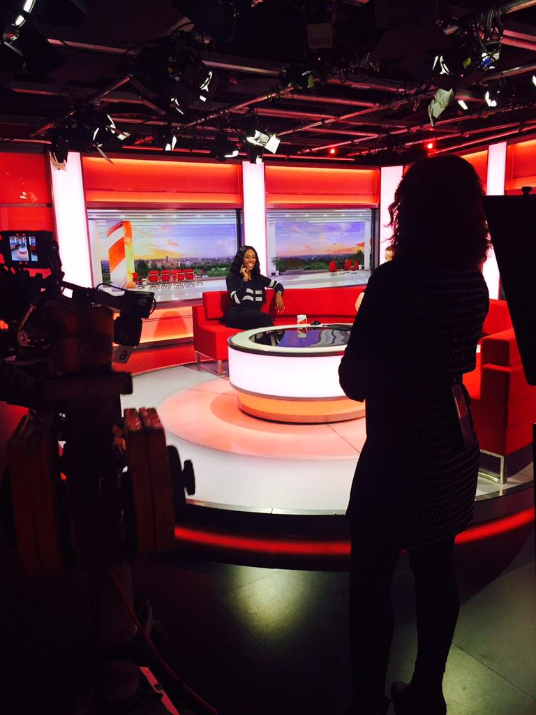 Had a great time this morning on @BBCBreaking ! Who's coming to see a show !? @TheBodyguardUK ❤️ http://t.co/I6MpJz7fEG