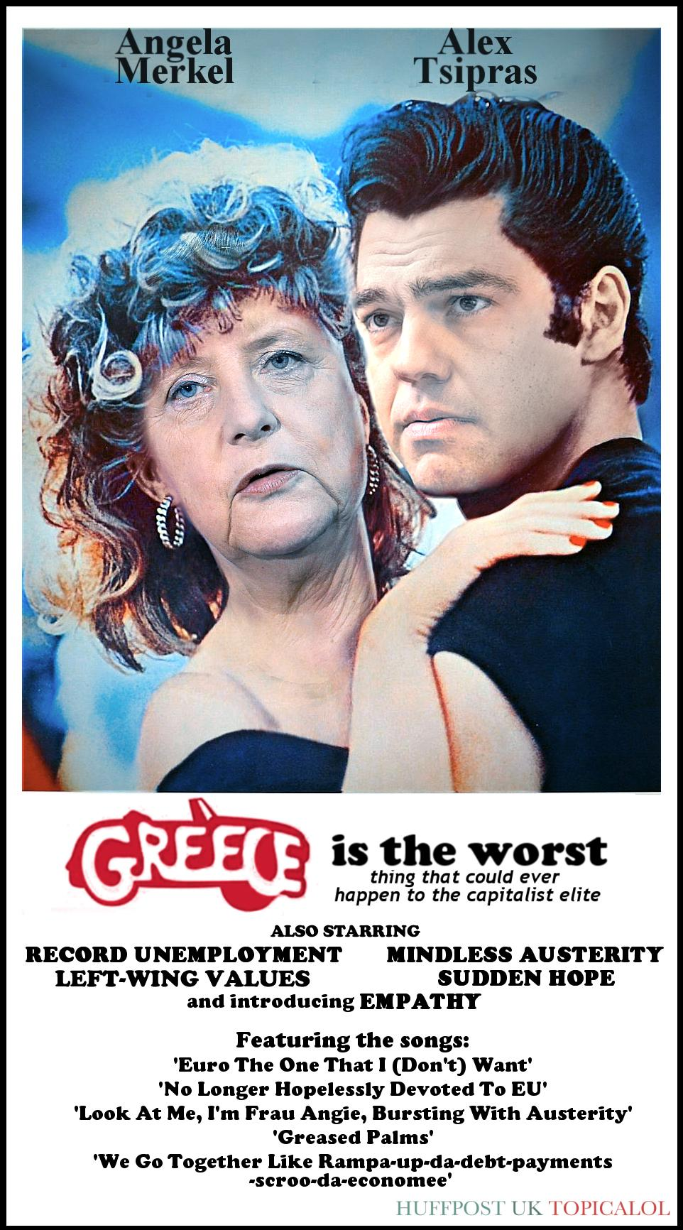 Greece. The inevitable poster. (done for @huffpostukcom)  http://t.co/7ipgBvpAFE http://t.co/u6ePyALdDc