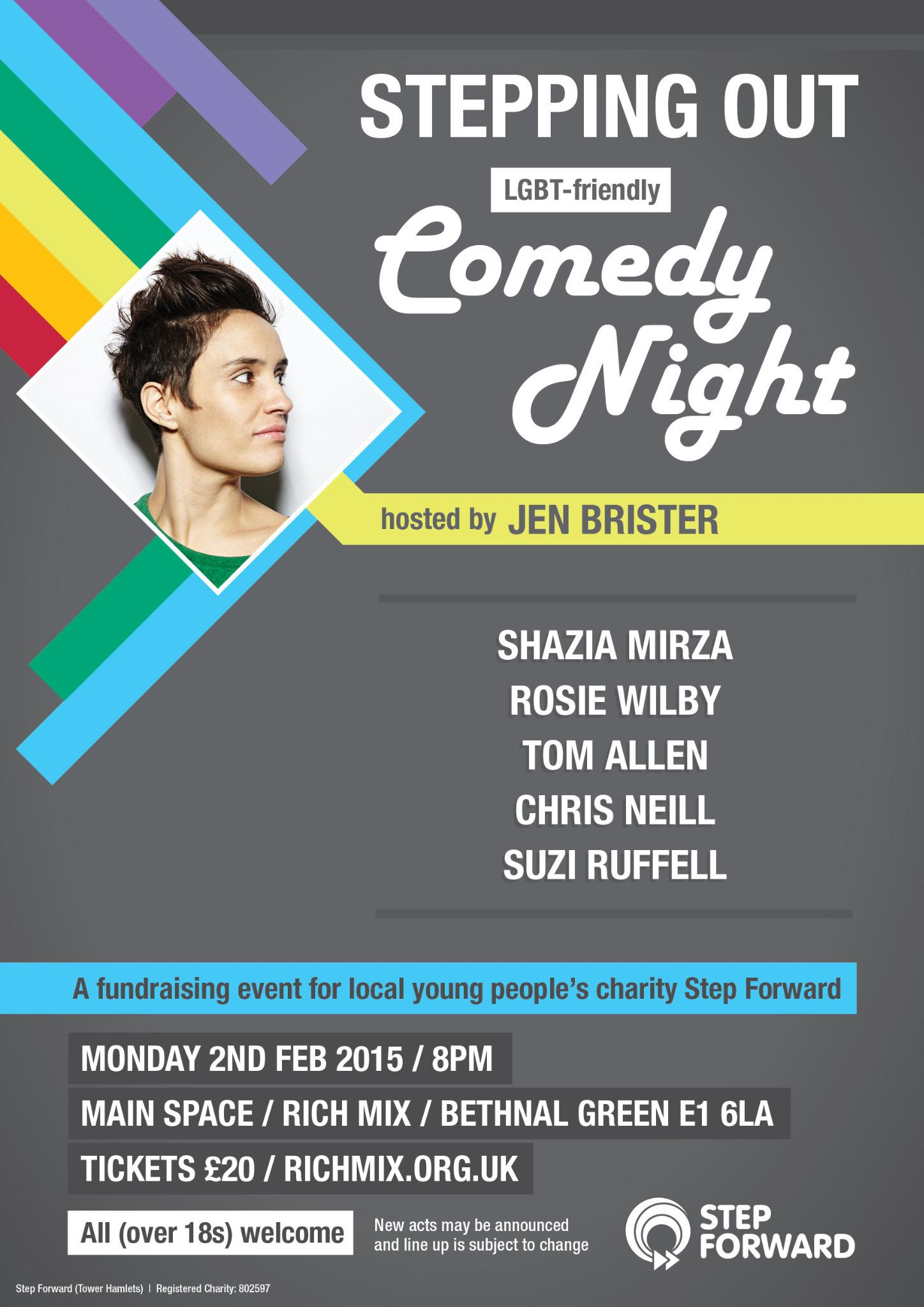 RT @step_forward: Join the hilarious @JenBrister for our comedy night fundraiser next Monday - ticket info here: http://t.co/RlOypiwsk8 htt…