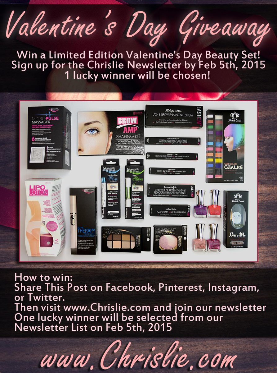 Win the Ultimate Valentine's Beauty Basket! Sign up for the newsletter to enter http://t.co/CTg26TZchU #VdayGiveaway http://t.co/7cj3HFmv8a