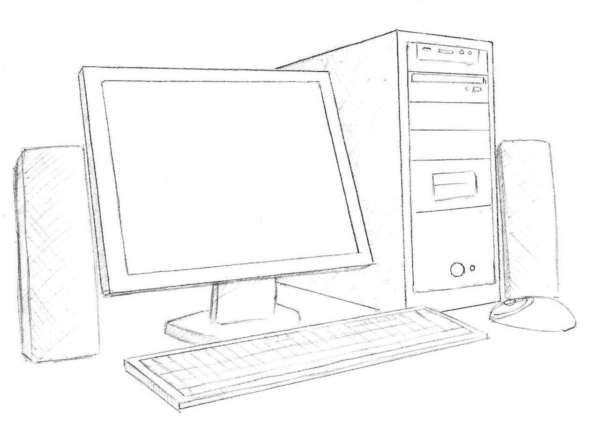 итоге, рисунок про компьютеры крепятся