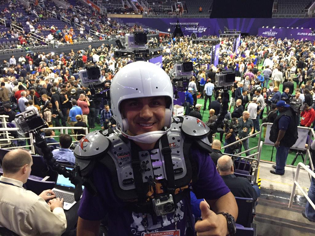 How's this for covering every angle of #SBMediaDay? GoPro guy! #fox25 #kodakmoment http://t.co/2Bx5ml9TrA