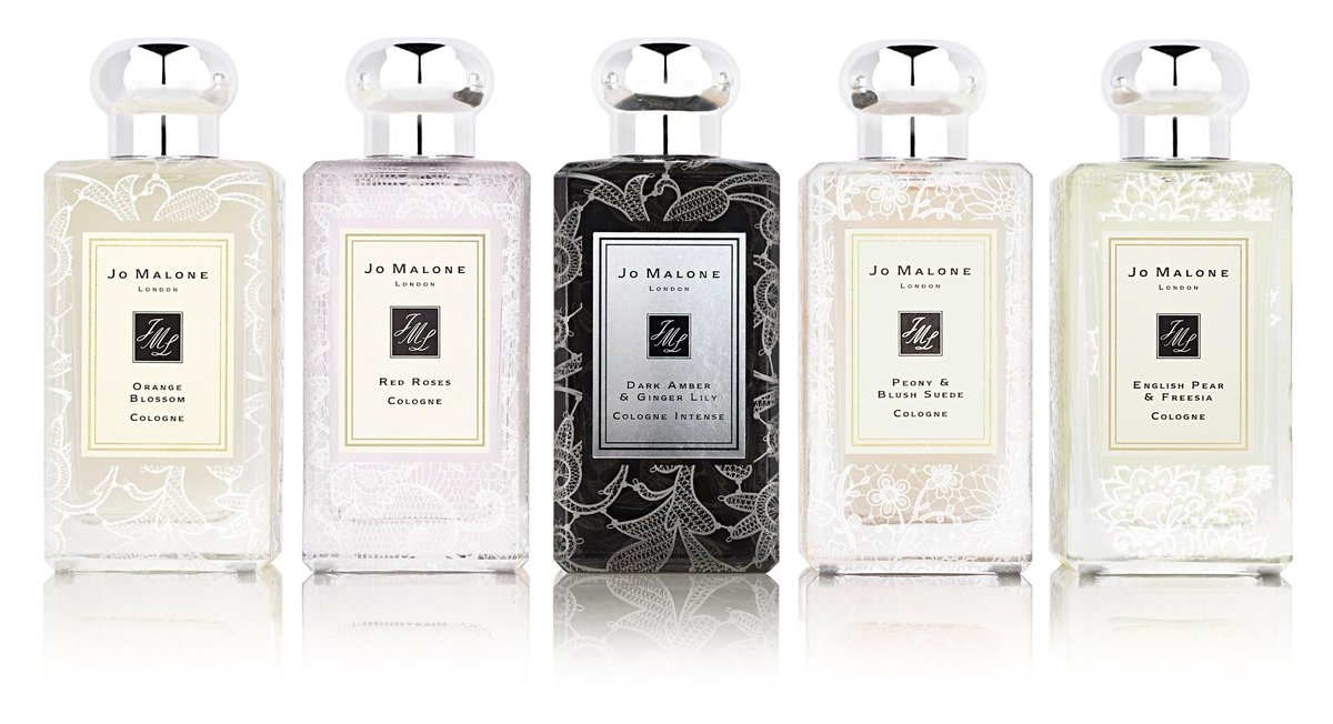Exquisite! The new Lace Bottle Collection from @JoMaloneLondon #scentedwedding available in May! http://t.co/hdIEW17ClA