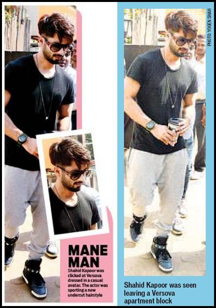 Shahid Kapoor Loverz On Twitter Print Media Dna Ht Mane Man Shahidkapoor Was Seen Sporting A New Undercut Hairstyle Http T Co 59xuowfalj