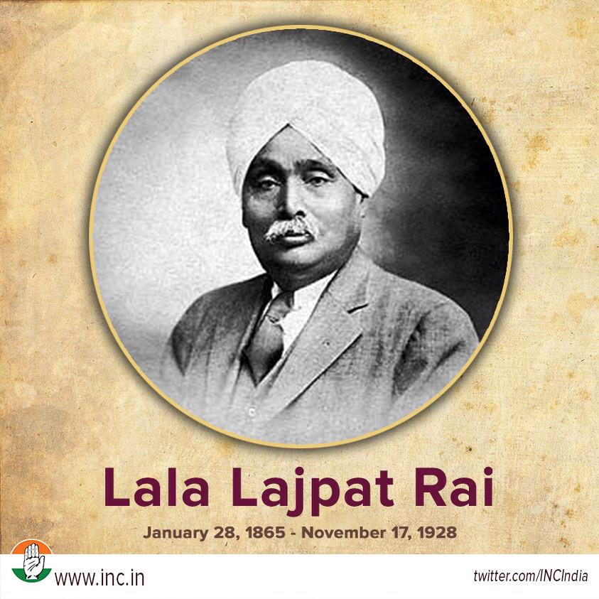 Congress on twitter our humble tribute to great freedom fighter congress on twitter our humble tribute to great freedom fighter sher e punjab lala lajpat rai on his birth anniversary today httptj5tg4kfqrn altavistaventures Choice Image