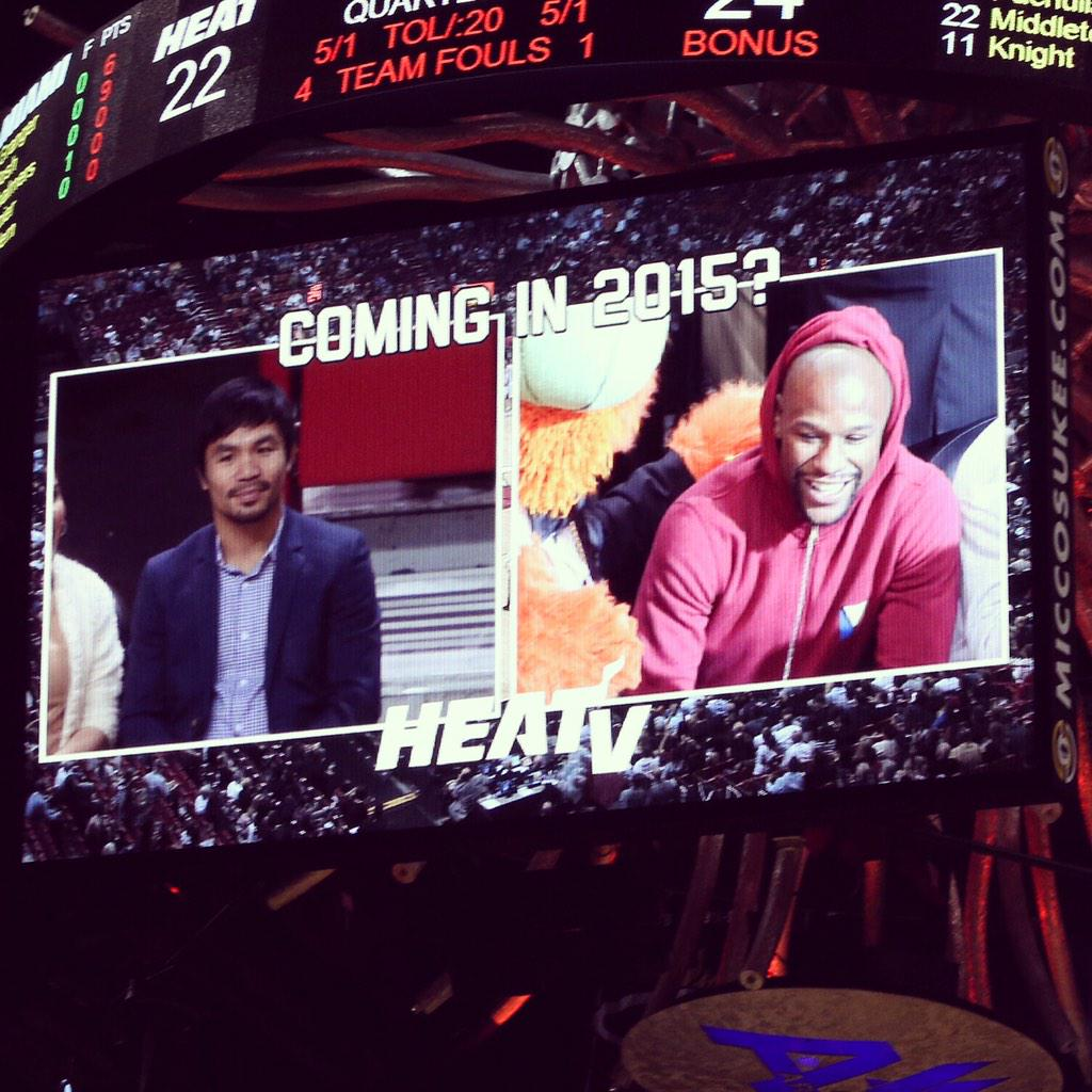 Pacquiao and Mayweather crossed paths?