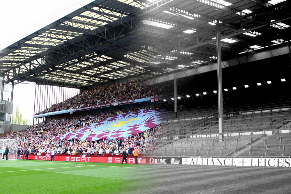 Aston Villa On Twitter Villaparklife The Holte End 2008 Meets The Old Terrace Just Before Its Demolition In 1994 Avfc Http T Co Aoqhpezhn7