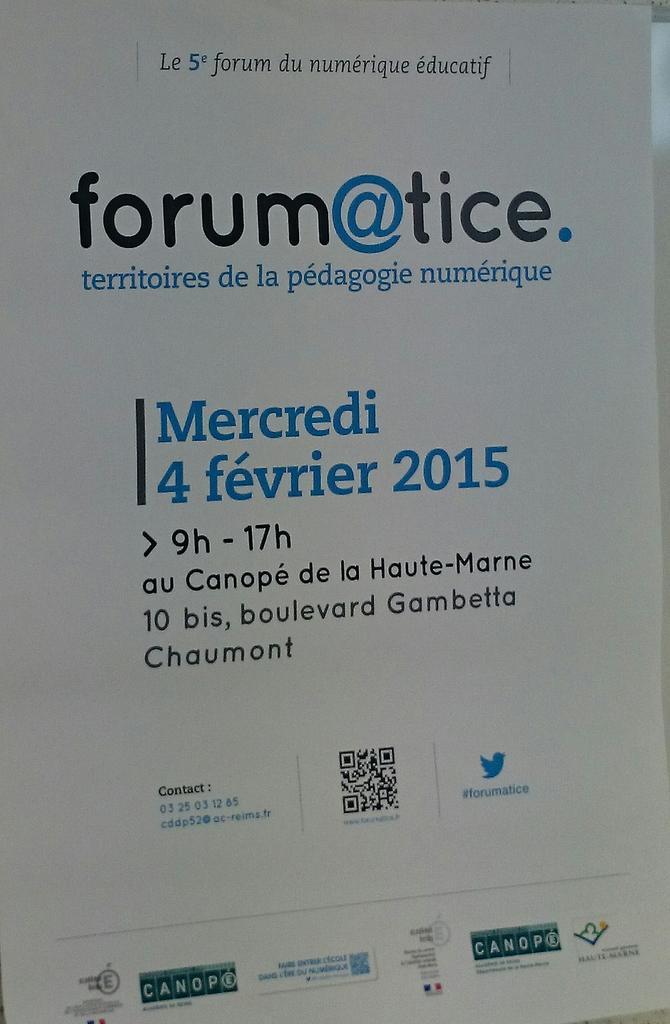 Le #forumatice bat son plein en Haute-Marne. http://t.co/jaow8od90Q